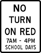 no turn on red 時間帯